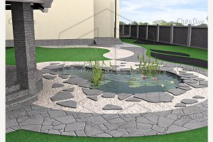 Hardscapes and water garden
