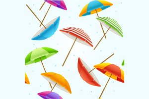 Beach Umbrella Background. Vector