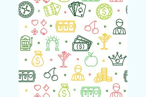 Casino Background Pattern. Vector