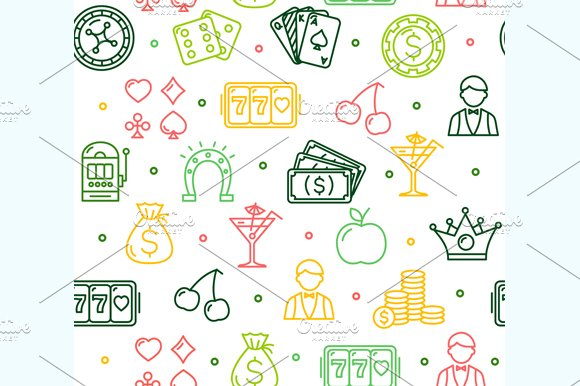 Casino Background Pattern. Vector - Patterns