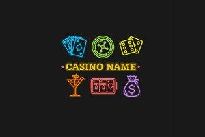 Casino Concept Neon. Vector
