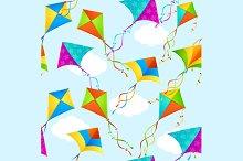 Kite Background Pattern. Vector