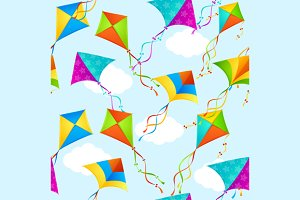 Kite Background Pattern. Vector