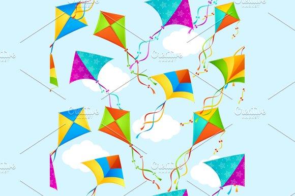Kite Background Pattern Vector Graphic Patterns Creative Market Simple Kite Pattern