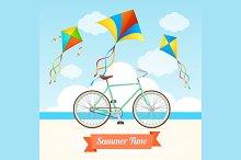 Summer Card. Vector