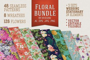 Flowers Patterns Bundle
