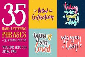 35 Hand Lettering Phrases & Posters
