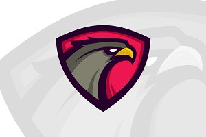 Eagle head sport logotype