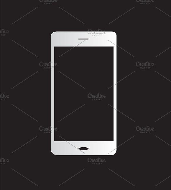 Mobile phone icon white