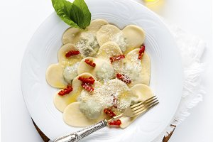 delicious ravioli.