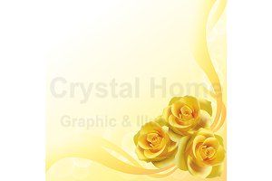 Golden rose background template