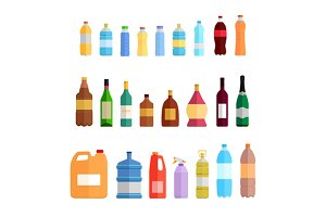 Bottle Set Oil and Beverage