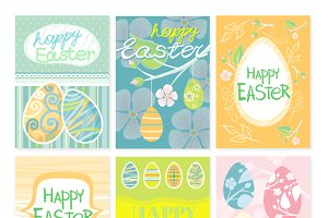 Set of Brochure Flyer Layout Easter