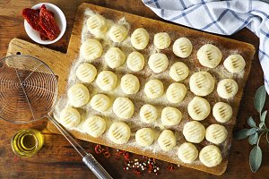 homemade uncooked gnocchi