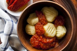 Italian gnocchi with tomato