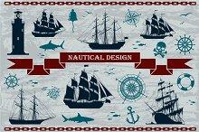 Vector Nautical Design Elements Set