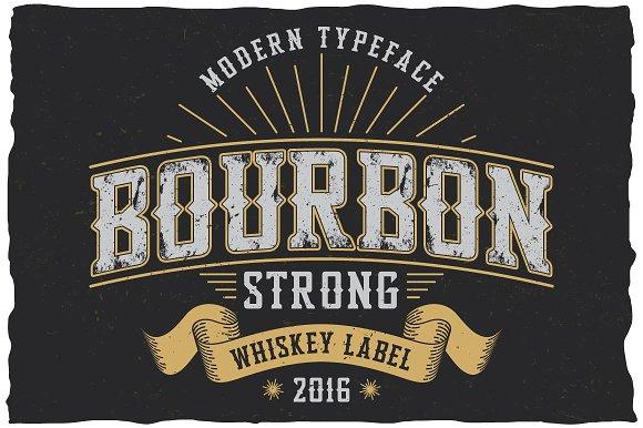 Bourbon Strong label font