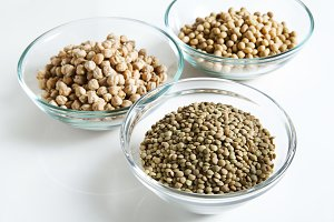 Lentils and other Legumes in bowl