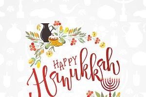 Happy Hanukkah Typography