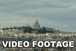 Timelapse of Paris panorama
