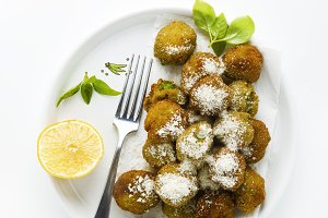 vegetable balls made of peas