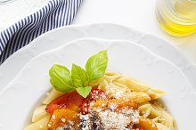 Pasta with roasted sweet Peppers