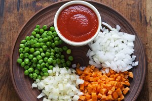 Vegetables and Tomato Sauce