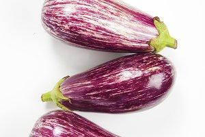 group of purple eggplant