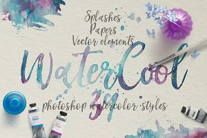 WaterCool Kit. Watercolor Styles