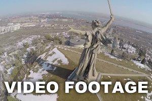Flying over Mamaev Kurgan