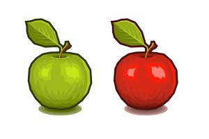 Apples with Leaf Icons