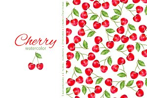 Watercolor Cherry Collection