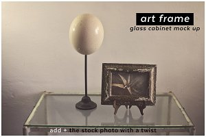 add + artframe glass cabinet mockup