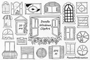 Doodle Windows Clipart