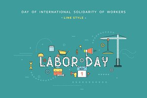 Labor day design concept