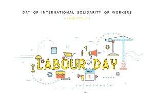 Labour day design concept
