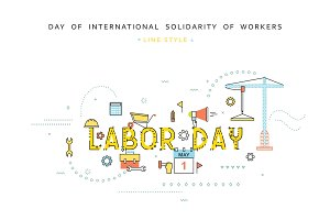 Design concept Labor day