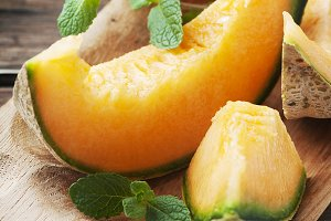 Fresh sweet melon