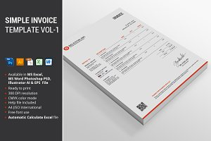 Simple Invoice Template Vol-1