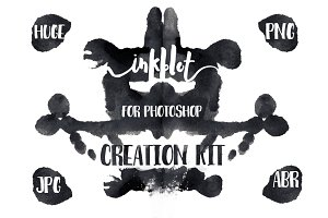 Inkblot (Rorschach test) art kit