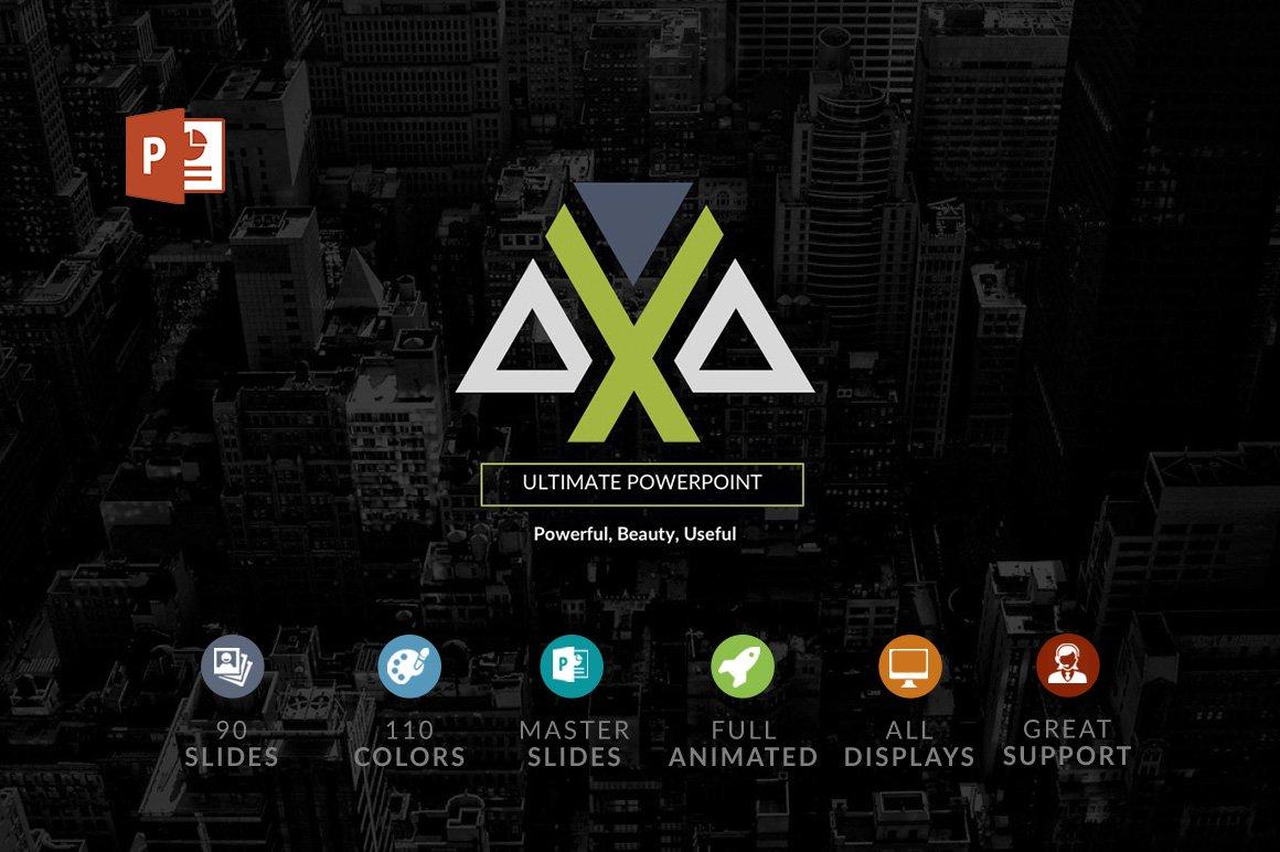 Axa powerpoint template presentation templates creative market toneelgroepblik Image collections
