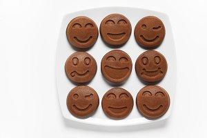 Smiling chocolate Pancakes.