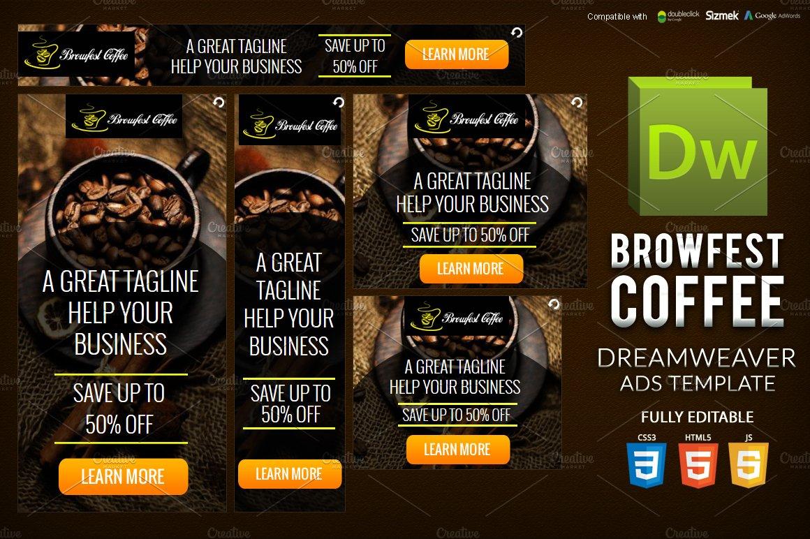 HTML5 Banner Dreamweaver Template ~ HTML/CSS Themes ~ Creative Market