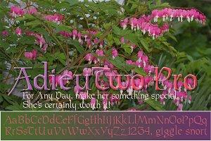 AdieuTwo Pro: 400+ glyphs