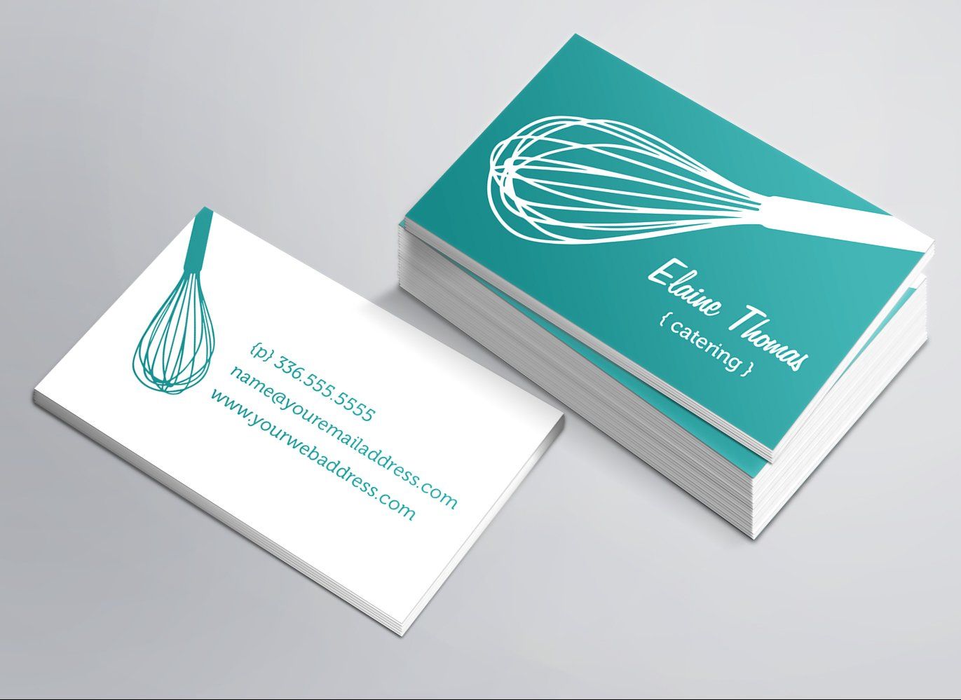 Whisk business card business card templates creative market reheart Images
