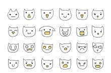 Cat emotions set of 36 pieces