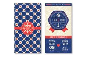 Marine Wedding Cards