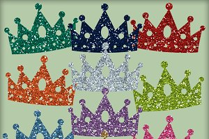 Princess Glitter Crowns - 10 PNGs