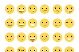 Emotions web. Emoticon smile