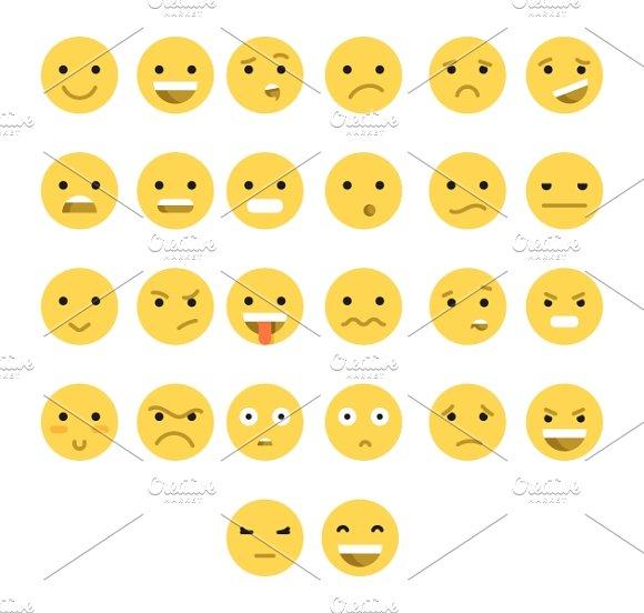 Emotions web. Emoticon smile - Icons